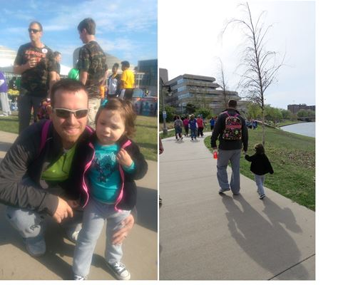 Derek and his family walking to help cure type 1 diabetes - Mechanized Design